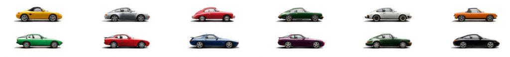 overzicht classic Porsche modellen
